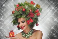 Julskönhet Arkivbilder