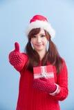 Julskönhetkvinna royaltyfri fotografi