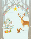 Julskog Royaltyfri Bild
