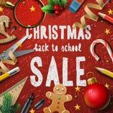 Julskolaförsäljning Royaltyfri Fotografi
