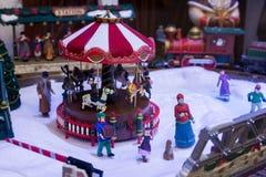 Julskyltfönster Arkivbild