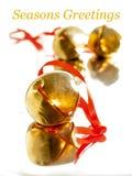 Julsläde Klockor Royaltyfri Foto