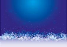Julsnöflingabakgrund för design Arkivbild