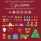 Julsnögarnering Arkivbild