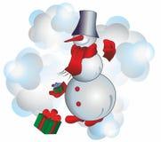 Julsnögubbe Arkivbilder
