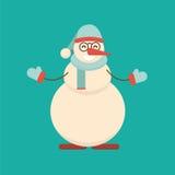 Julsnögubbeanseendet med hans händer med armar fördelade till si stock illustrationer