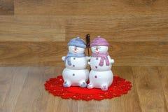 Julsnögubbear Royaltyfria Bilder