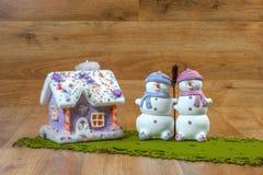 Julsnögubbegarnering Royaltyfri Foto