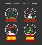 Julsnöjordklot Fotografering för Bildbyråer