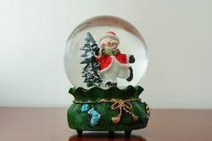 Julsnöjordklot Royaltyfri Fotografi