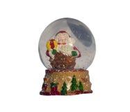 Julsnöjordklot med Santa Claus Royaltyfria Bilder