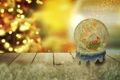 Julsnöjordklot nytt år Arkivbilder