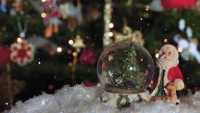 Julsnöjordklotboll för suddig bakgrund med utrymme för text lager videofilmer