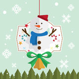 Julsnömansnö Arkivbilder
