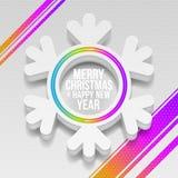 Julsnowflake Arkivfoto