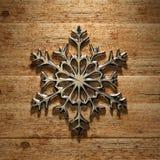 Julsnowflake Arkivbild