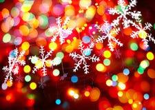 Julsnowflakes Arkivfoto