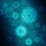 Julsnowflakes vektor illustrationer