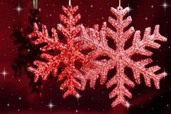 Julsnowflakes Royaltyfri Foto