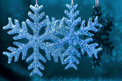 Julsnowflakes Royaltyfri Fotografi