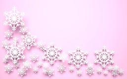 Julsnowflakes royaltyfri illustrationer