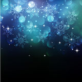 Julsnowflkesbakgrund Arkivbild