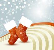 Julsockor Vektor Illustrationer