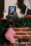 Julspis med filialgran Fotografering för Bildbyråer