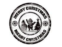 julstämpel royaltyfri illustrationer