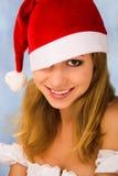 julståendekvinna Arkivbilder