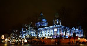 Julstadshus i Belfast Arkivbilder