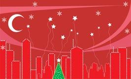 julstadstid stock illustrationer