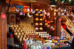 Julstall i Prague Arkivbild