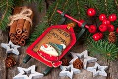 Julstilleben med ljusa symboler Royaltyfri Foto