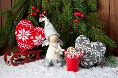 Julstilleben med ljusa symboler Royaltyfri Bild