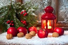 Julstilleben med ljusa symboler Royaltyfria Foton