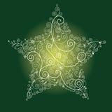 julstjärna royaltyfri illustrationer