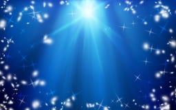 Julstjärna i natthimlen Bakgrund Jul mirakel royaltyfri illustrationer