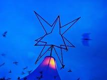 Julstjärna - ljus lek Royaltyfria Bilder