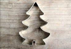 Julstjärna och träd Arkivfoto