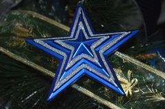 Julstjärnadekorer arkivbilder