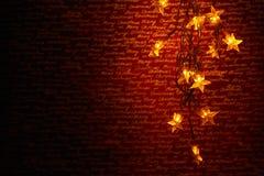 Julstjärnalampor Royaltyfri Fotografi