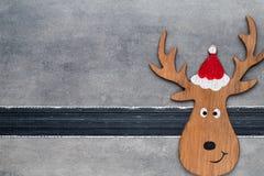 Julstjärnasanta hatt Den Seamless modellen kan användas för wallpaperen, modellpåfyllningar, rengöringsduksidabakgrund, surface t Royaltyfri Fotografi