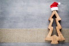 Julstjärnasanta hatt Den Seamless modellen kan användas för wallpaperen, modellpåfyllningar, rengöringsduksidabakgrund, surface t Royaltyfri Bild