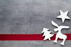 Julstjärnasanta hatt Den Seamless modellen kan användas för wallpaperen, modellpåfyllningar, rengöringsduksidabakgrund, surface t Arkivbilder