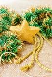 Julstjärnastearinljus royaltyfria foton