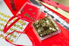 Julstjärnor för garnering Arkivfoto