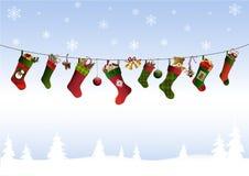 Julstrumpor Fotografering för Bildbyråer