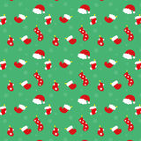 Julstrumpor och hattar Fotografering för Bildbyråer
