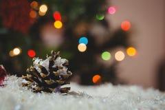 Julstruntsaken och sörjer kotten på snö Royaltyfri Foto